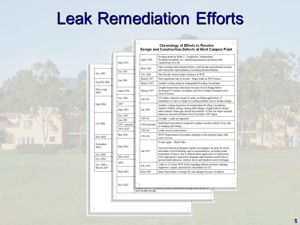5 Leak Remediation Efforts