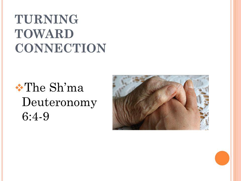 TURNING TOWARD CONNECTION  The Sh'ma Deuteronomy 6:4-9