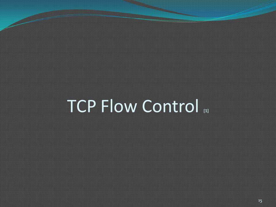 TCP Flow Control [1] 15