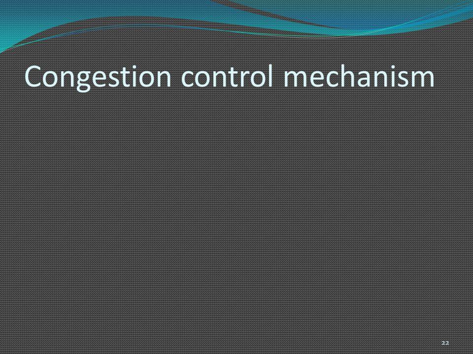 Congestion control mechanism 22