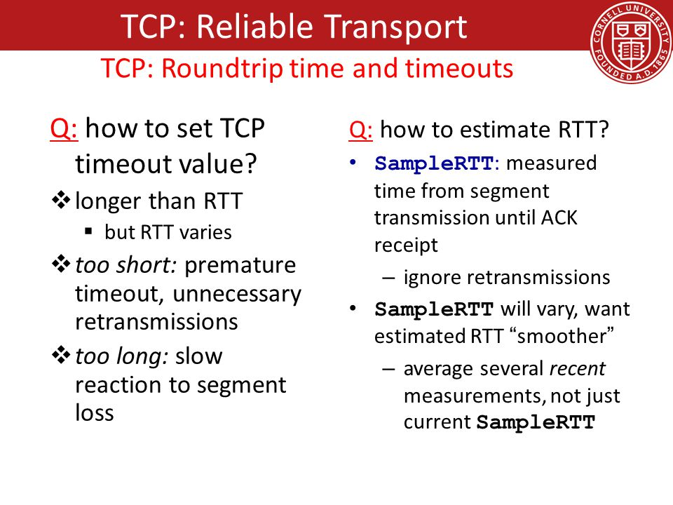 Q: how to set TCP timeout value.