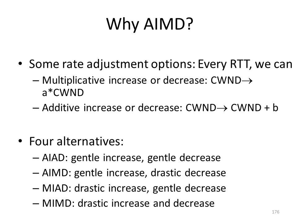 Why AIMD.