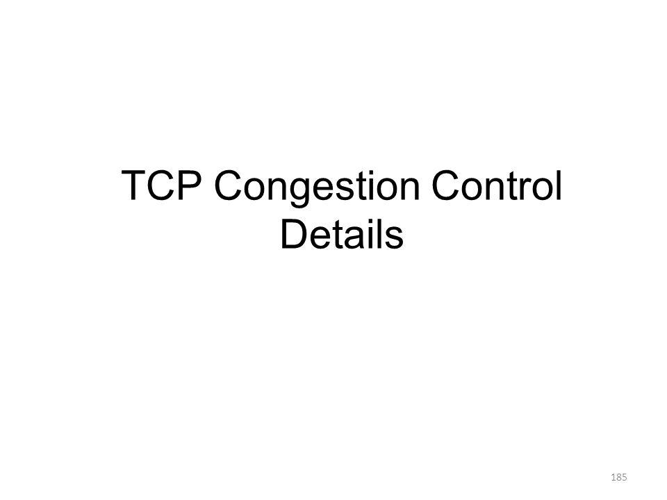TCP Congestion Control Details 185