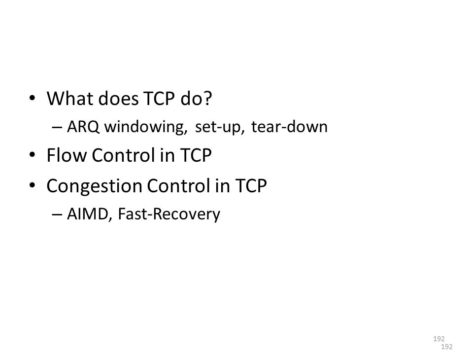 What does TCP do.