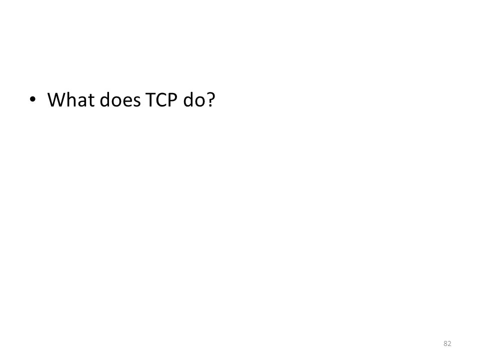 What does TCP do 82