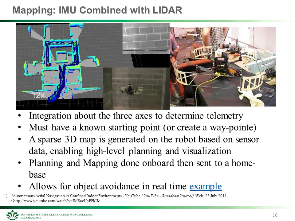 Mapping: IMU Combined with LIDAR 10 1)