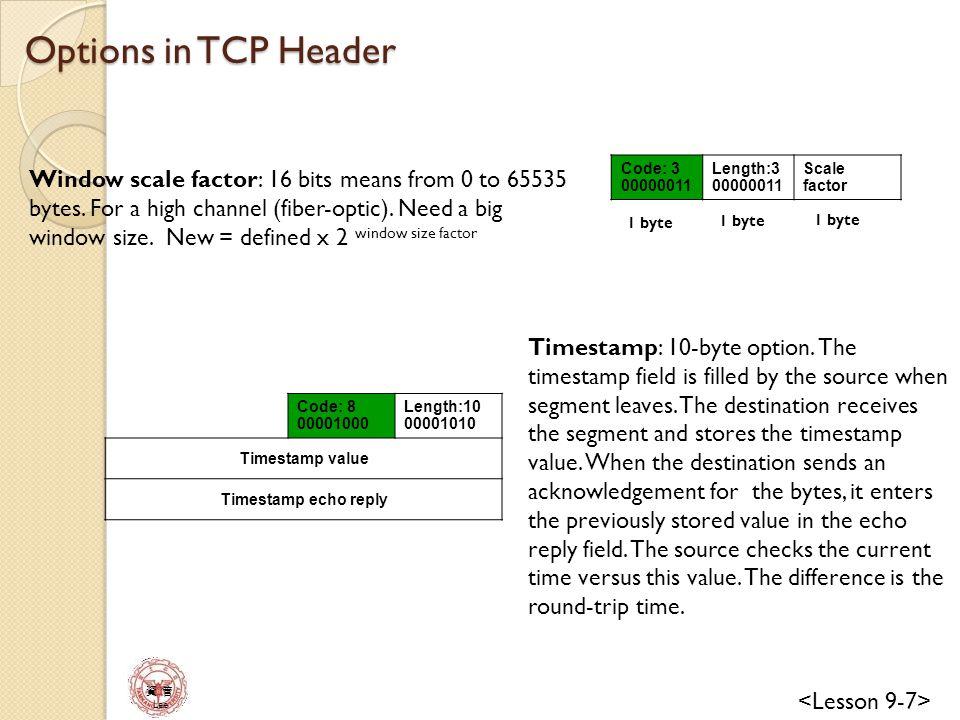 資 管 Lee 資 管 Checksum field in TCP packet 32-bit source IP address 32-bit destination IP address All 0s 8-bit protocol (6) 16-bit TCP total length Source port number (16 bits) Destination port number (16 bits) Sequence number 32 bits Acknowledge number 32 bits HLEN 4 bits Window size 16 bits Checksum 16 bits Urgent pointer 16 bits Options & padding Data Pseudoheader Header + options Data