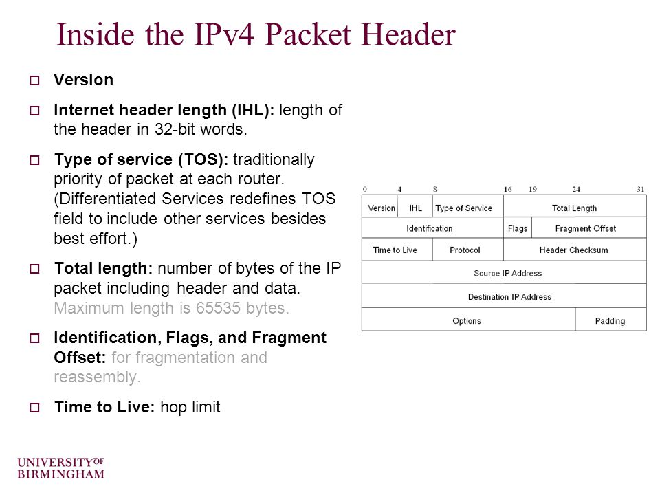 48 Routing within and Between AS's  Interior Gateway Protocol (IGP): routing within AS – Routing Information Protocol (RIP) - a distance vector protocol – Open Shortest Path First (OSPF) - a link state protocol  Exterior Gateway Protocol (EGP): routing between AS's –Border Gateway Protocol (BGP) – a path vector protocol (like a distance vector protocol but decisions also incorporate policies and rules).