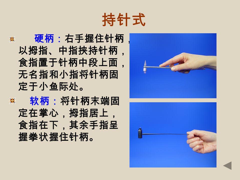 二、操作方法和针刺部位 (一)操作方法 1 .持针式1 .持针式 2 .叩刺法2 .叩刺法 3 .刺激强度3 .刺激强度