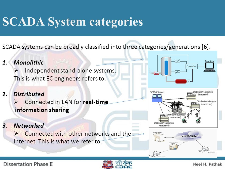 Problem Description  SCADA systems were not designed keeping security in mind.