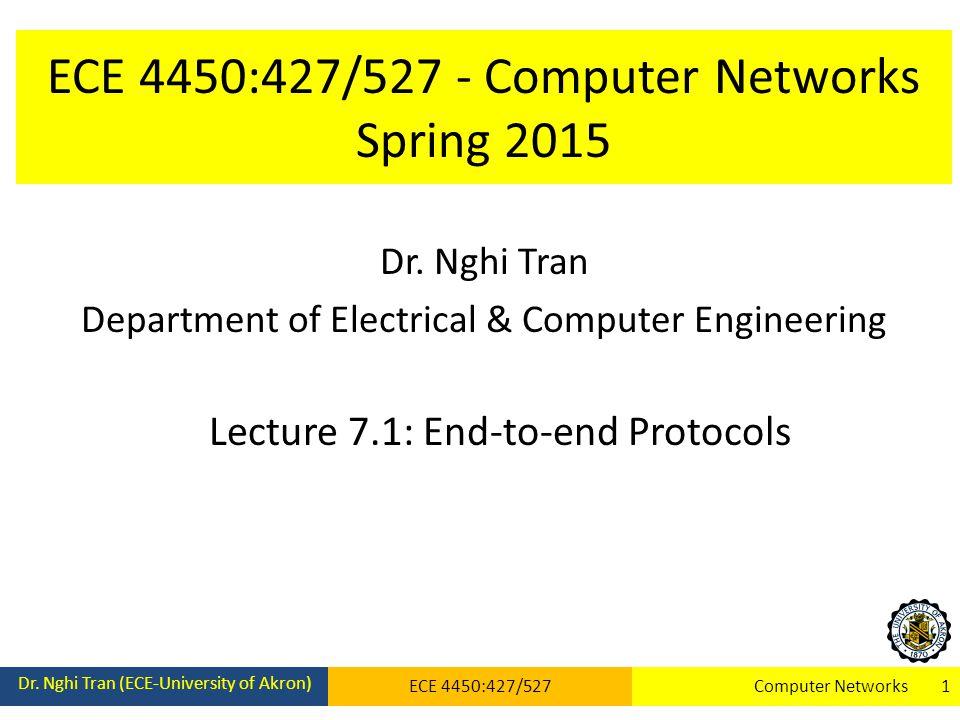 ECE 4450:427/527 - Computer Networks Spring 2015 Dr.