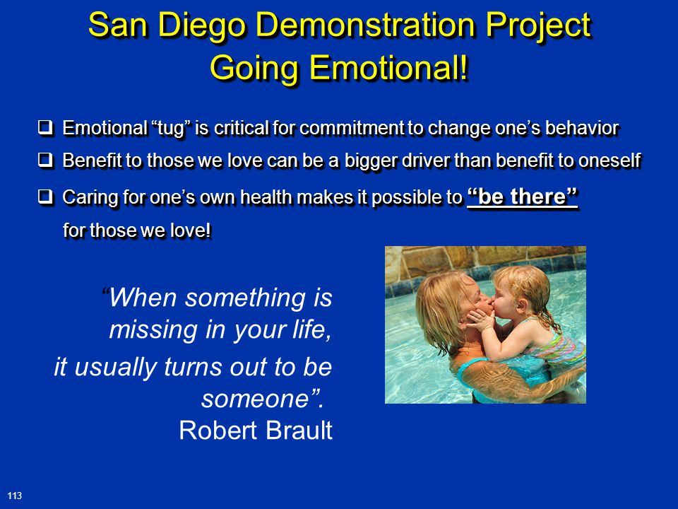 San Diego Demonstration Project Going Emotional.