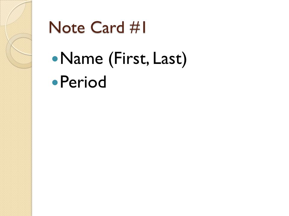 Note Card #2 Prefix a not Without lacking