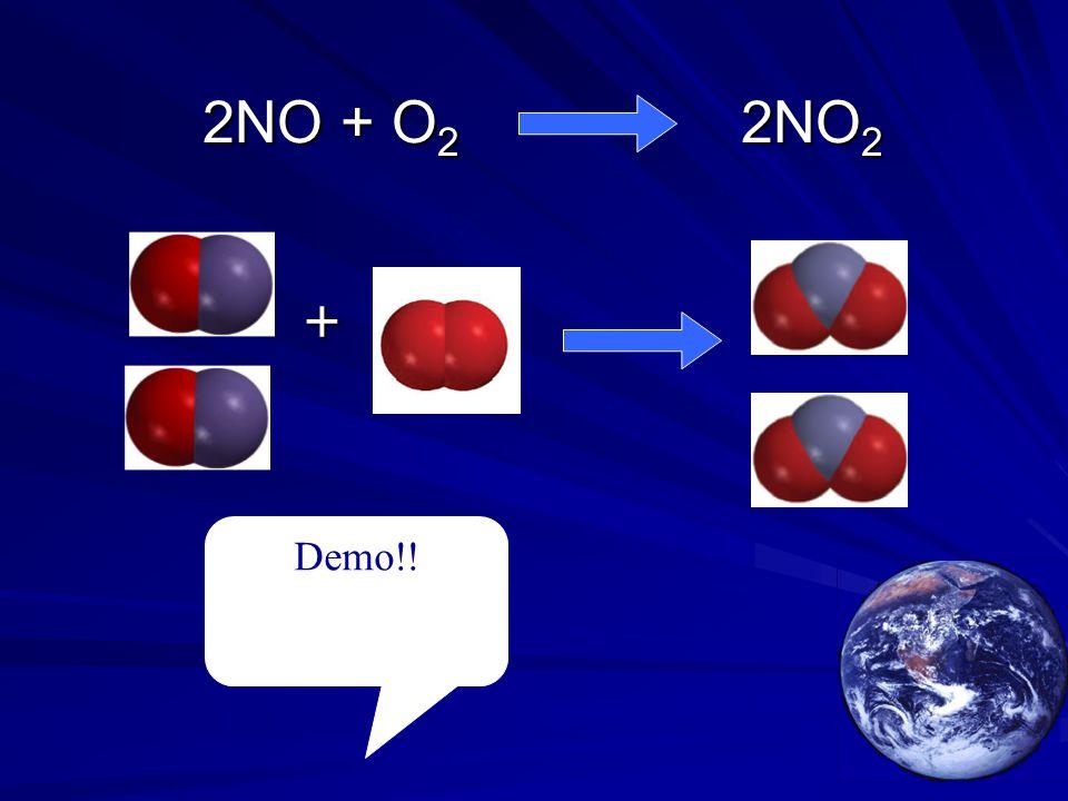 2NO + O 2 2NO 2 2NO + O 2 2NO 2 Demo!! +