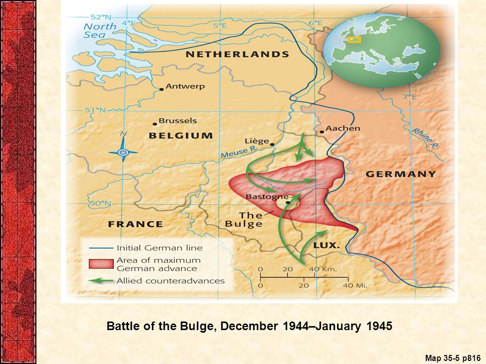 Map 35-5 p816 Battle of the Bulge, December 1944–January 1945