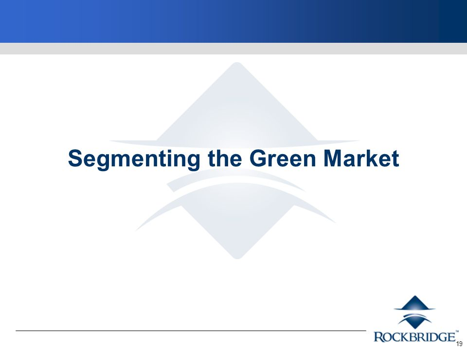 19 Segmenting the Green Market