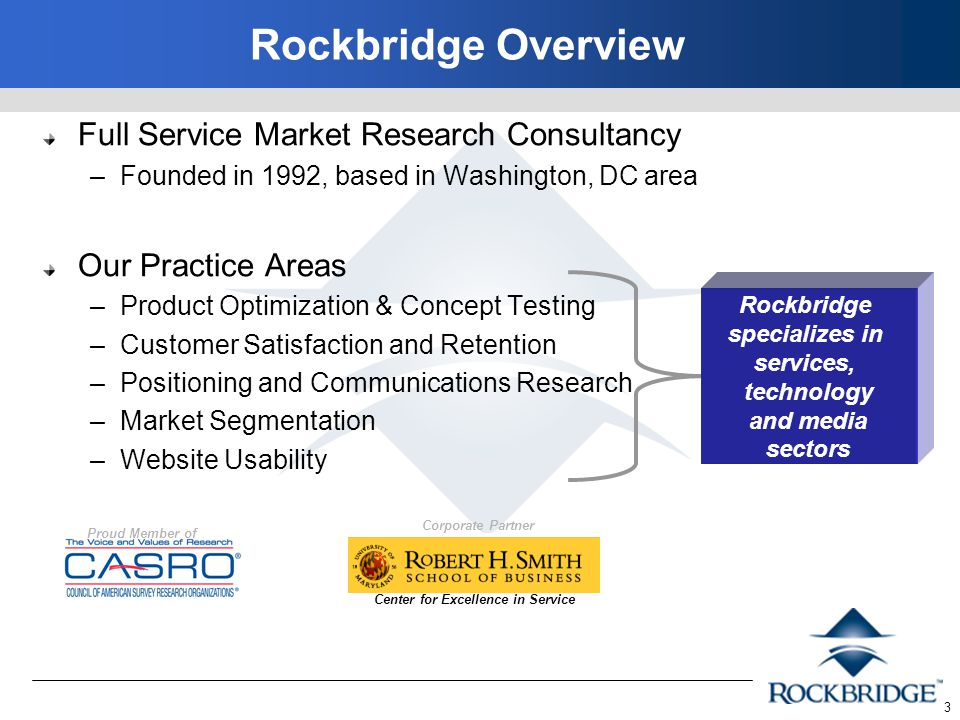 4 Rockbridge's National Technology Readiness Survey (NTRS) has gathered consumers' opinions and usage of technology since 1999 The study is co-sponsored by the Center for Excellence in Service, R.
