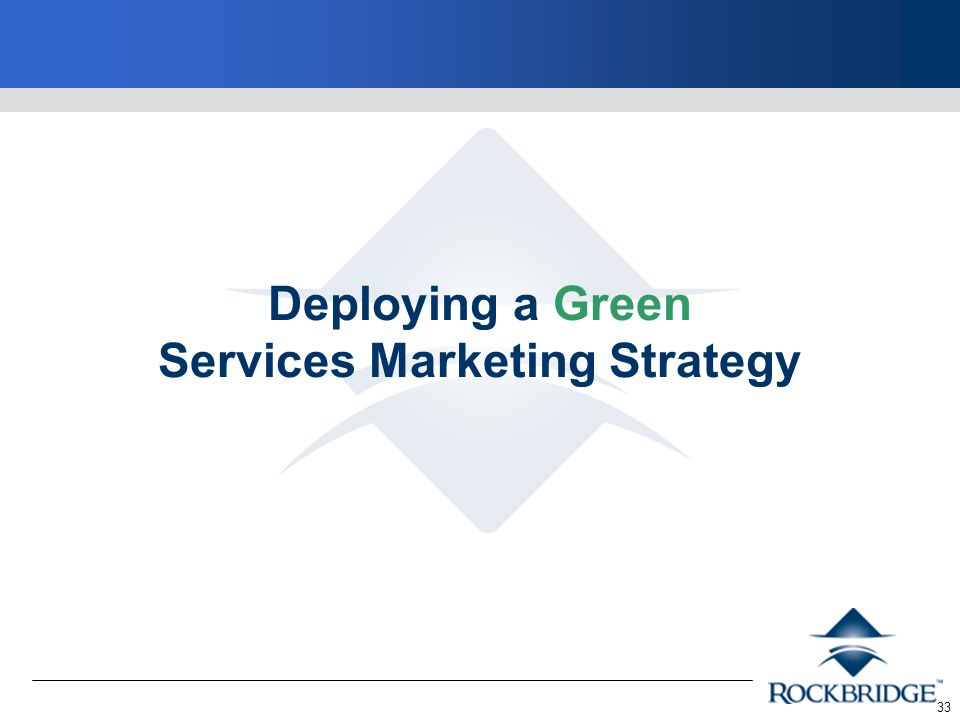 33 Deploying a Green Services Marketing Strategy