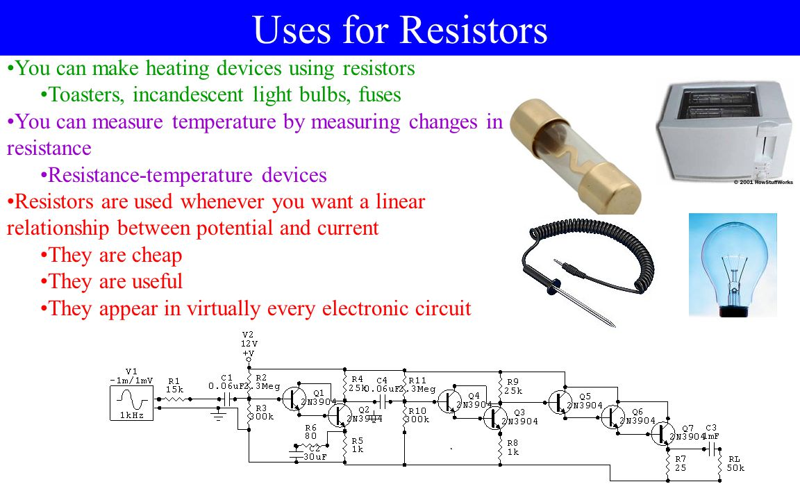 Power and Resistors The charges flowing through a resistor are having their potential energy changed QQ VV Where is the energy going? The charge c