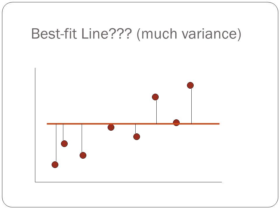 Best-fit Line??? (much variance)