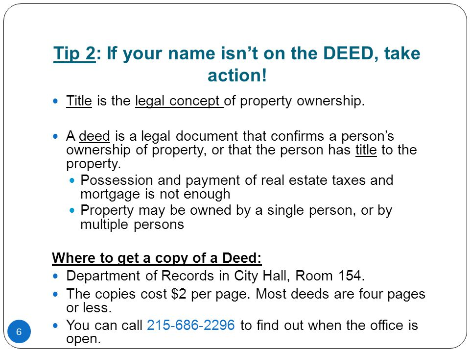 17 Tip 4: Beware of Liens.A lien is a debt on your home.