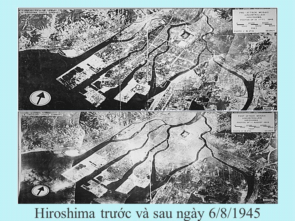 Hiroshima trước và sau ngày 6/8/1945