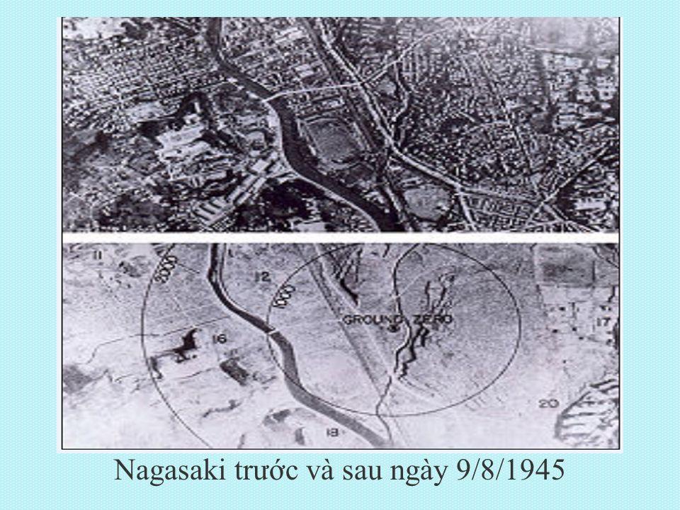 Nagasaki trước và sau ngày 9/8/1945