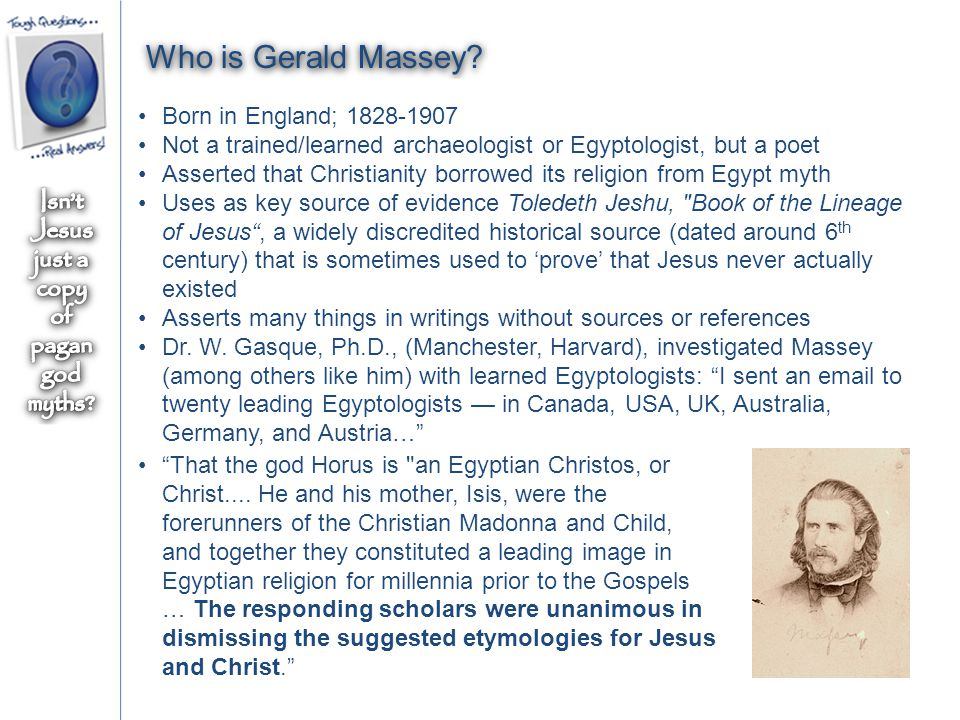Who is Gerald Massey.