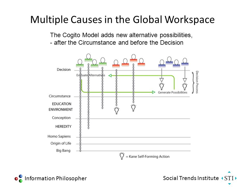 Information Philosopher Social Trends Institute Multiple Causes in the Global Workspace Bob Kane's Self-Forming Actions add their own causal chains