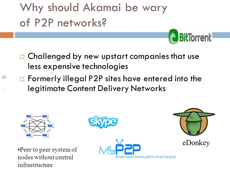 How could it counter competition from P2P networks.