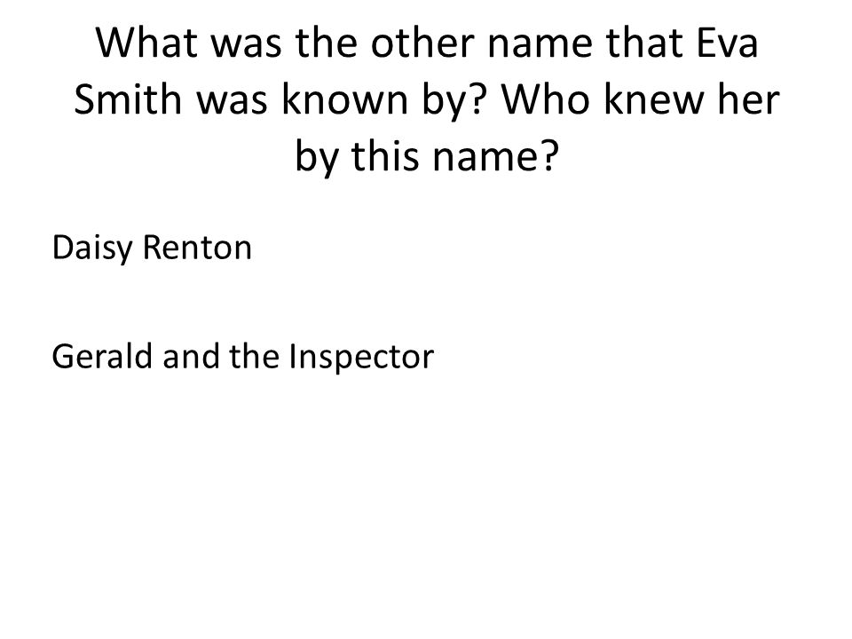 Daisy Renton Gerald and the Inspector