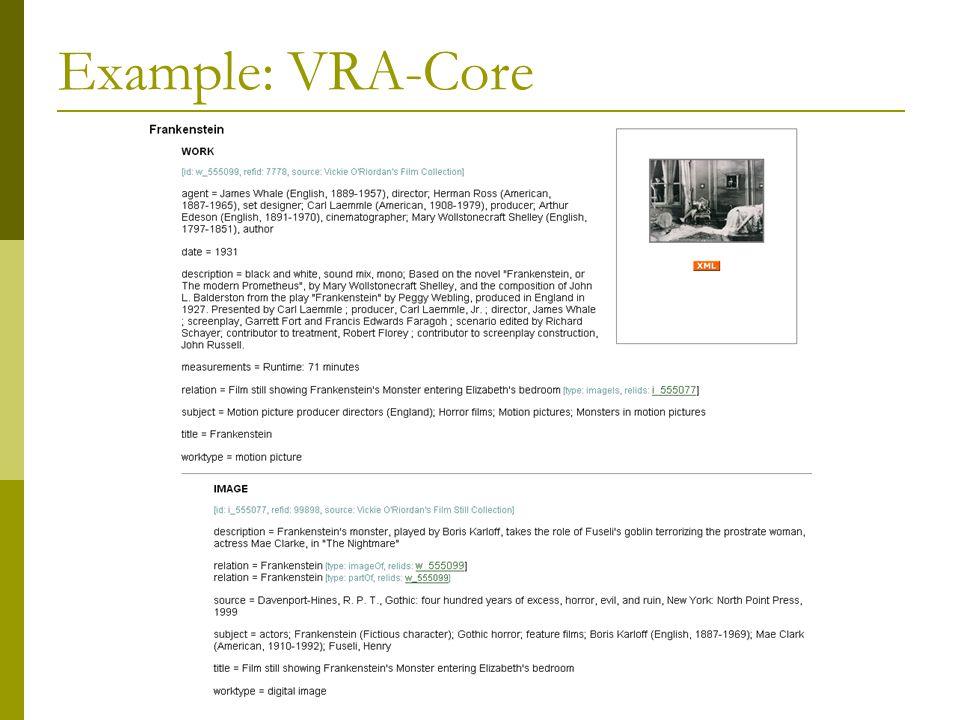 Example: VRA-Core