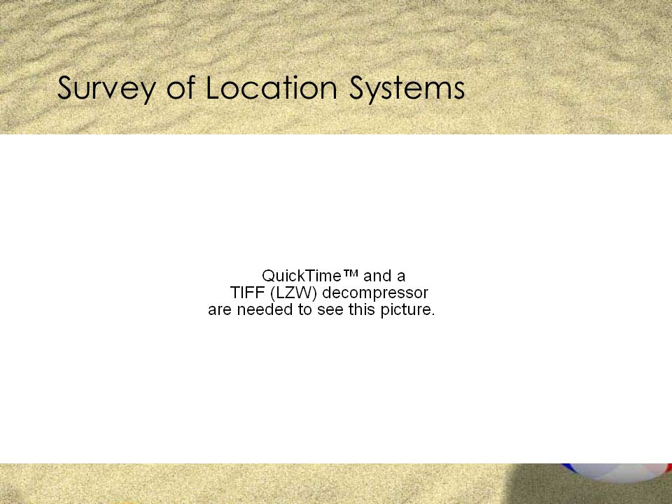 Survey of Location Systems
