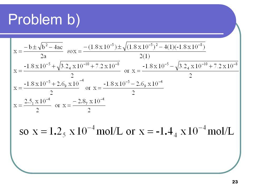 23 Problem b)