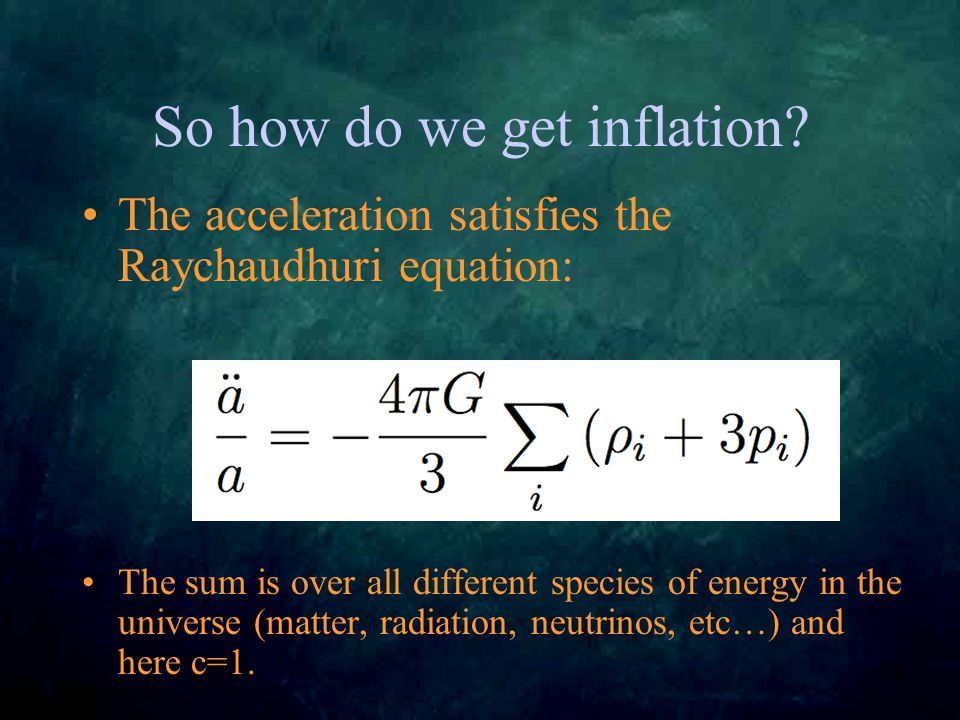 So how do we get inflation.