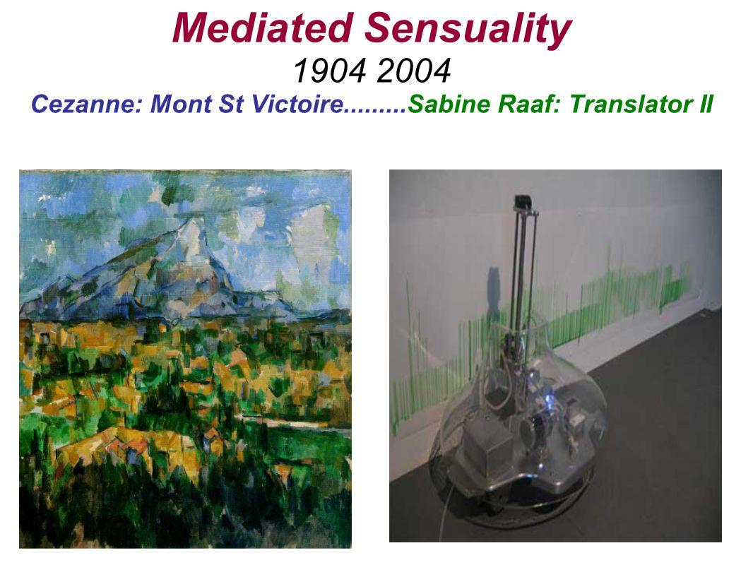 Mediated Sensuality 1904 2004 Cezanne: Mont St Victoire.........Sabine Raaf: Translator II