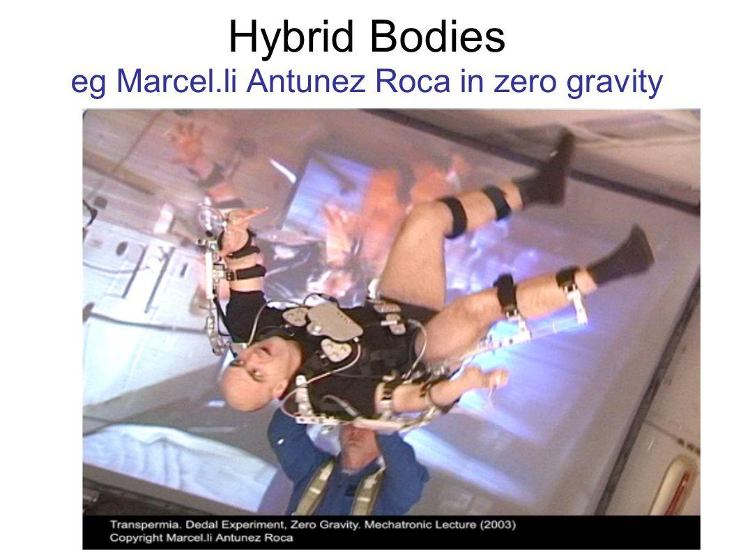 Hybrid Bodies eg Marcel.li Antunez Roca in zero gravity