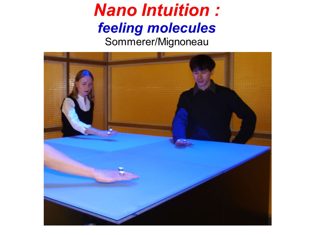 Nano Intuition : feeling molecules Sommerer/Mignoneau