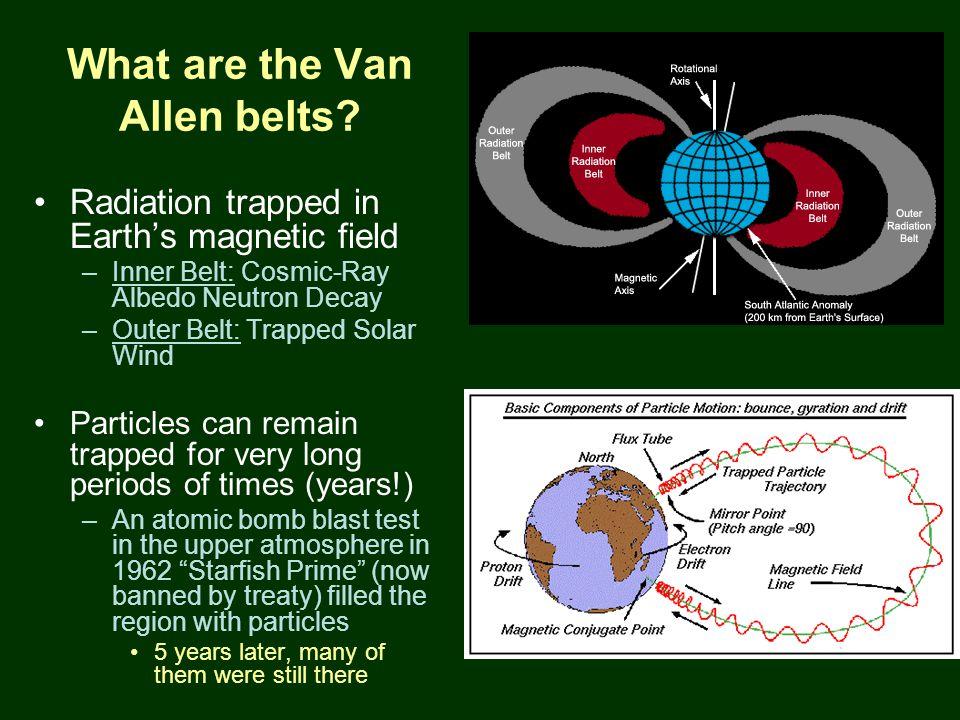 PTYS/ASTR 206Earth 2/27/07 What are the Van Allen belts.