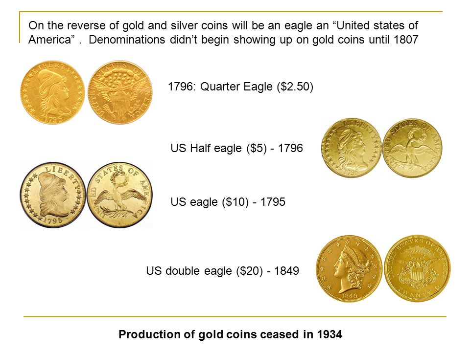 Half dime introduced in 1794The dime was first issued in 1796 Quarter: 1796 1794: US Half dollar 1794: US dollar (A gold dollar was released in 1849)
