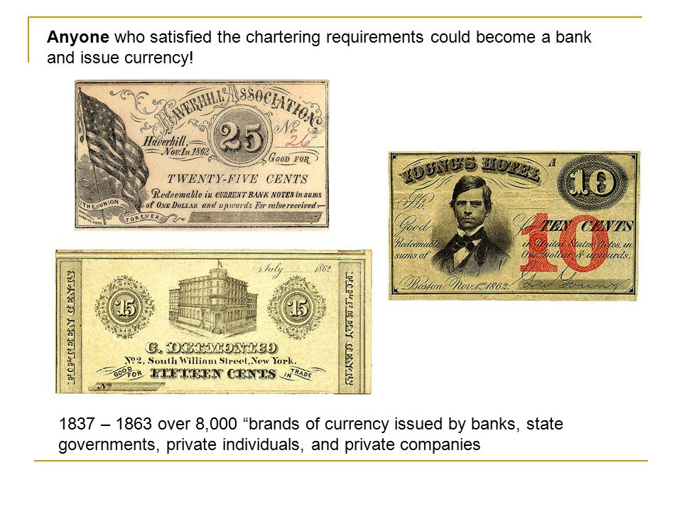 Prior to 1838, a bank charter could be obtained only by a specific legislative act. However laws passes by various states after 1838 allowed the autom