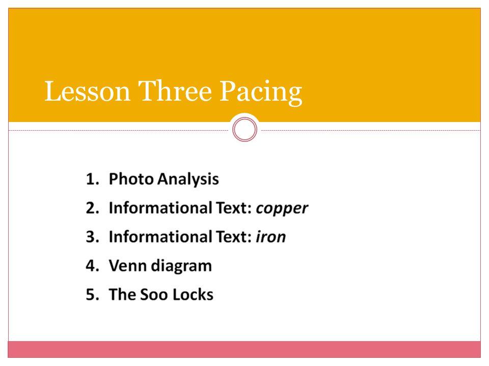 Lesson Three Pacing