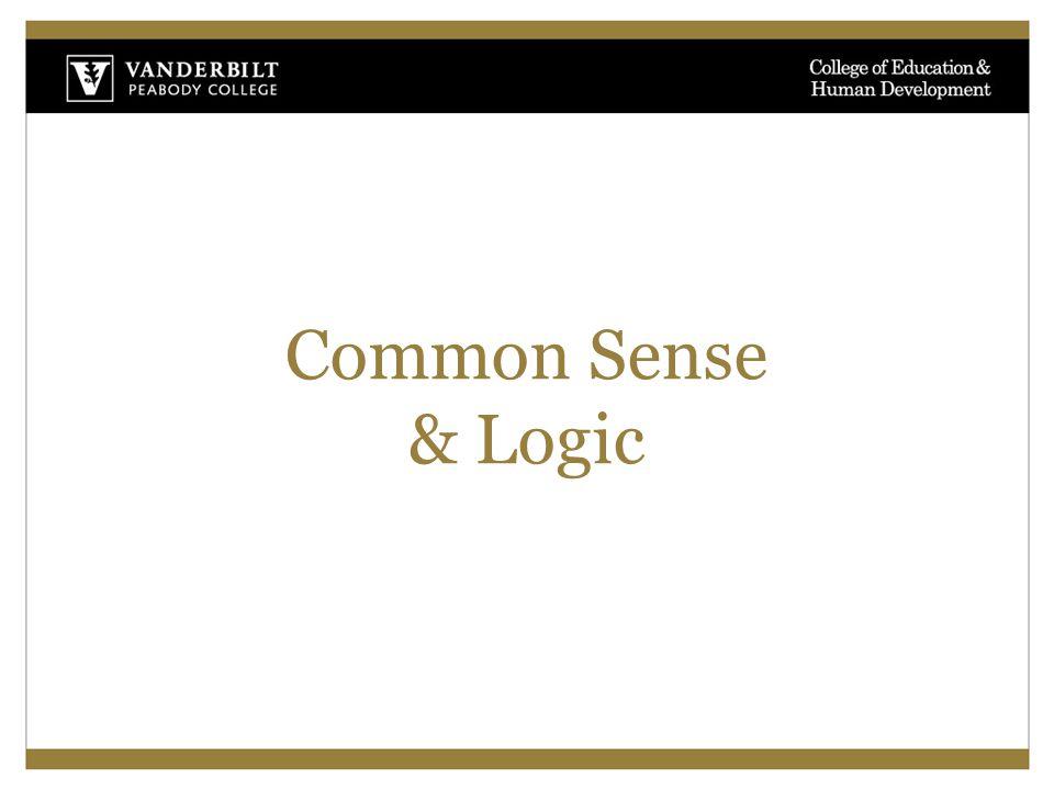 Common Sense & Logic