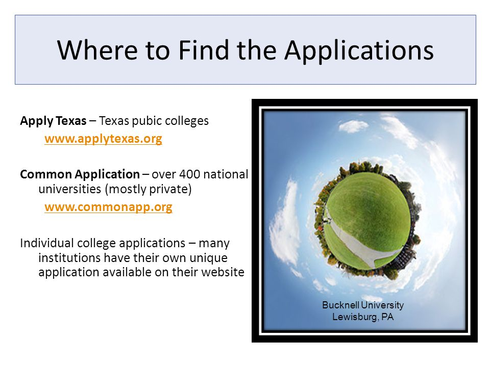 Ways to Influence Admissions College visits College interview Weekend seminars/ workshops As a rule of thumb, the earlier you apply, the better Keep informed on Naviance Meet with college reps when they come to Westlake Hills of Austin College Fair on October 6 th (seniors from 9-10 / juniors from 10-11); parents welcome Ask questions.