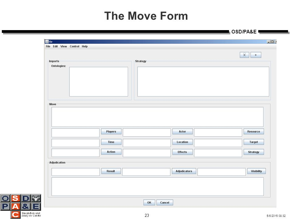 5/6/2015 08:32 23 OSD/PA&E The Move Form