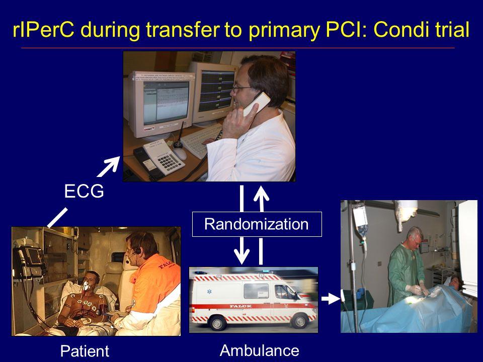rIPerC during transfer to primary PCI: Condi trial Ambulance Patient ECG Randomization