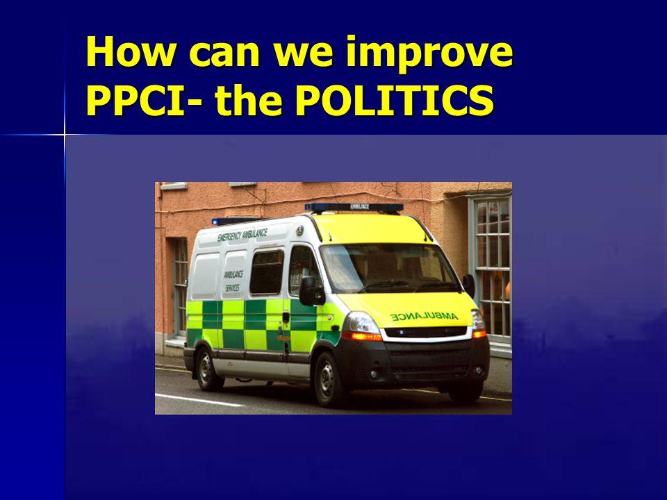 How can we improve PPCI- the POLITICS