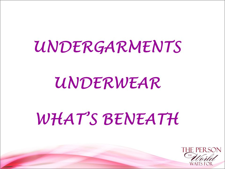 In the same way that a foundation stone is the basis for a building, underwear is the source for a well clad body Not only does it make or break a look, good slips, pants and bras can radically change the shape of your body Lingerie that works starts with knowing your exact size.