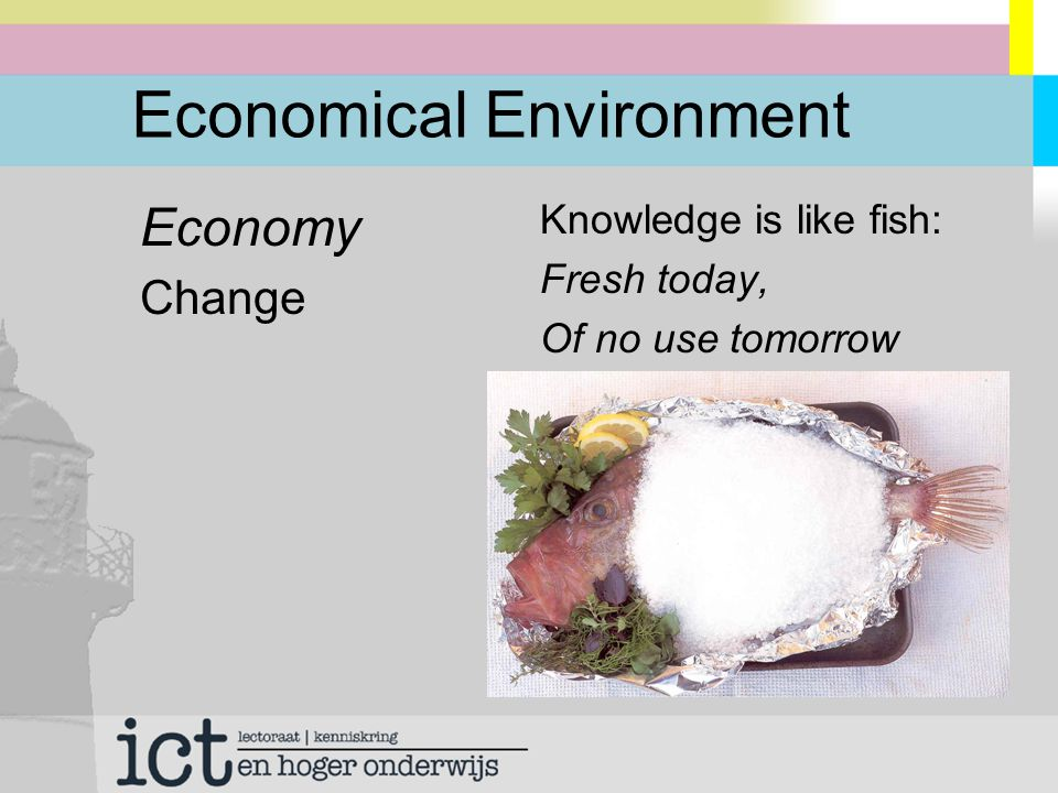 Economical Environment Economy Change Knowledge is like fish: Fresh today, Of no use tomorrow
