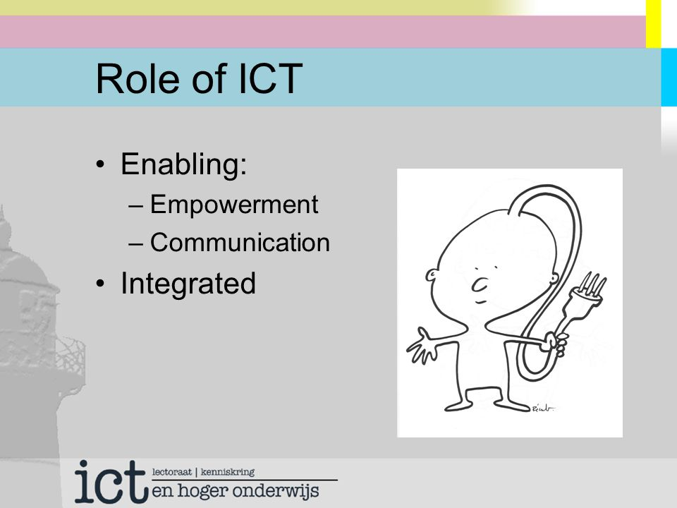 Role of ICT Enabling: –Empowerment –Communication Integrated